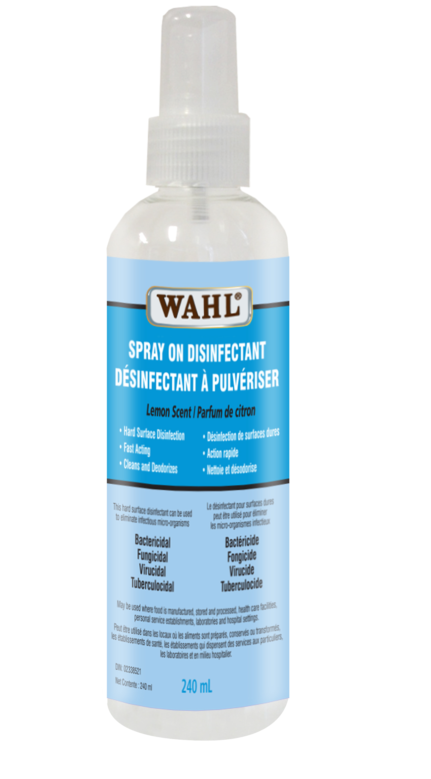 Wahl Spray On Disinfectant 240 ml
