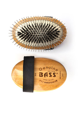 Bass Brush Wire/Boar Palm Style Pet Groomer A5