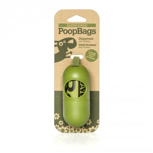 Poop Bags Dispenser with 15 Biodegradable Bags